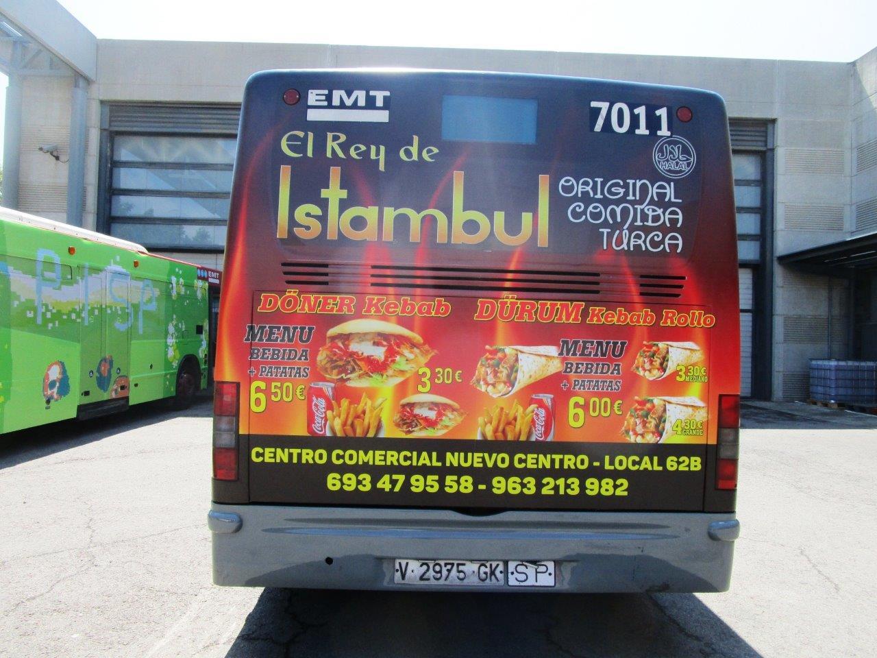 Autobuses, campaña de «El Rey de Istambul»