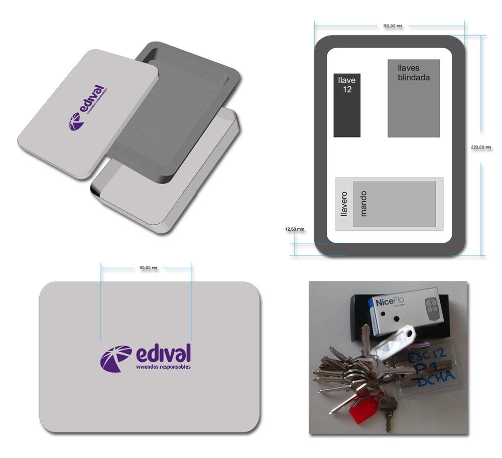 Caja entrega llaves «Edival Viviendas responsables»