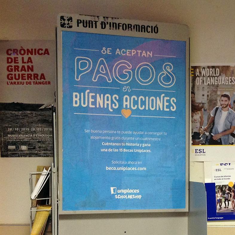 Expositores universidades campaña «Uniplaces»
